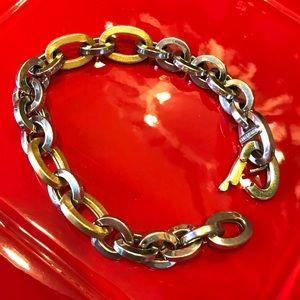 Vintage UnoAerre 18K gold various links bracelet